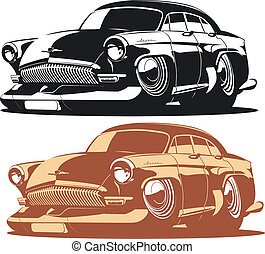 Cartoon car isolated on white background. Available EPS-8...