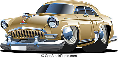 Cartoon retro car isolated on white background Available...