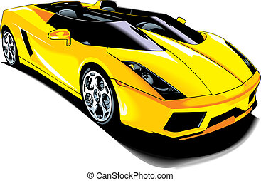 my original sport car design isolated on white background