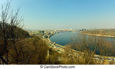 Dnipro river in Kyiv
