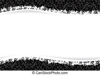 Decorative floral background vector design all parts are...