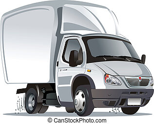 Cartoon truck isolated on white background. Available EPS-8...