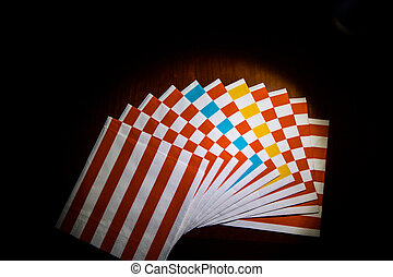 Paper Napkins - Striped paper napkins