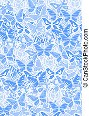 Blue butterflies - Creative design of blue butterflies