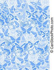 Blue butterflies - Creative design of blue butterflies
