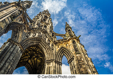 Scott Monument in sunny Edinburgh