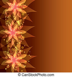 Floral background with decorative flower