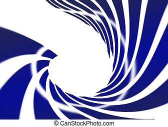 Abstract swirl blue on white background
