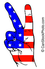 Peace Sign of the American flag