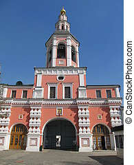 Danilov monastery. Temple Gate. - Russia, Moscow. Danilov...