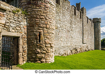 The entrance to the medieval castle of stone