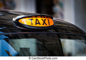 Taxi sign in UK