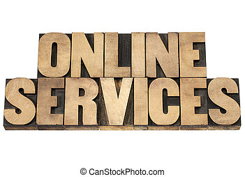 online services in wood type