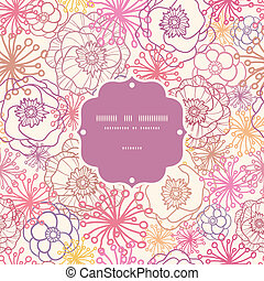 Subtle field flowers frame seamless pattern background -...