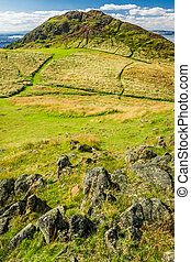 View of the path to the Arthur Seat in Edinburgh
