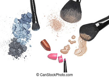 Cosmetics for makeup - Eye shadow, lipstick, foundation,...