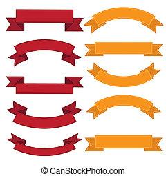 Set of old ribbon banner,Illustration - Set of old ribbon...