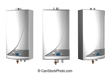 Gas boilers isolated on a white background