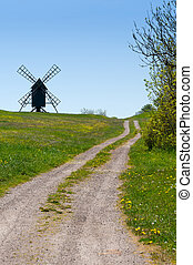 Way to an old Windmill on a hill