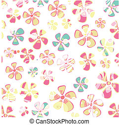 Hippie colorful flower background.