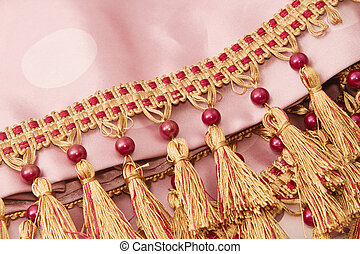 two tone brush made of thread decoration for curtain