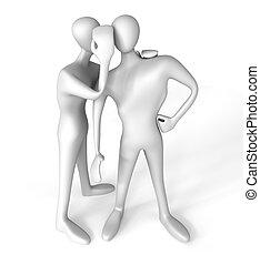 3d person telling a secret