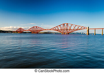 Firth of Forth Bridge in summer