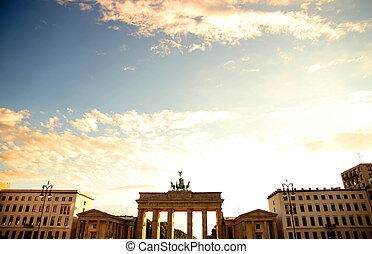 Brandenburger Gate in Berlin - The gate of Brandenburg in...