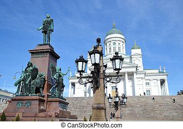 Statue of Russian czar Alexander II, Helsinki - Statue of...