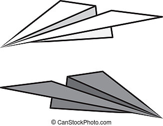 Paper Airplane Isolated - Isolated paper airplane light and...