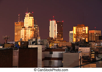 Buenos Aires at night - The nightly skyline of Buenos Aires...