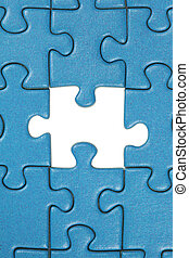 The last missing piece in a jigsaw puzzle - A jigsaw puzzle...