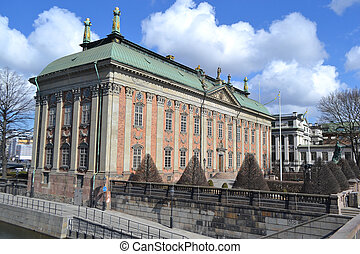 Parliament building in Stockholm - View of Parliament...
