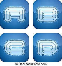 Capital letters - Custom made modern capital letters: A, B,...