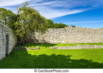 Medieval wall in Scotland