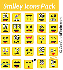 Smiley Icons Pack (yellow) - This is a simple, elegant and...