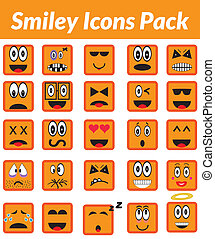 Smiley Icons Pack (orange) - This is a simple, elegant and...