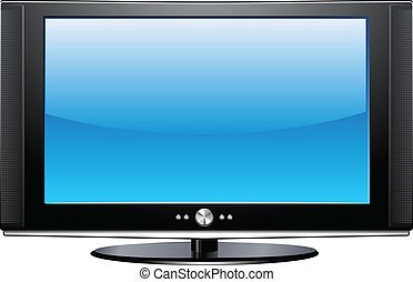 Flat Plasma LCD TV detailed vector