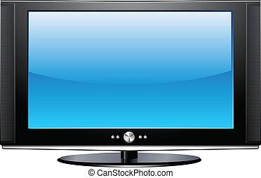 Flat Plasma LCD TV detailed vector