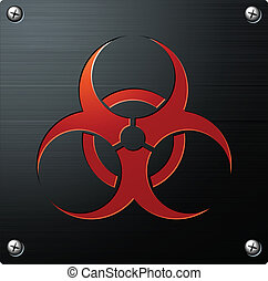 Biohazard Sign red emblem