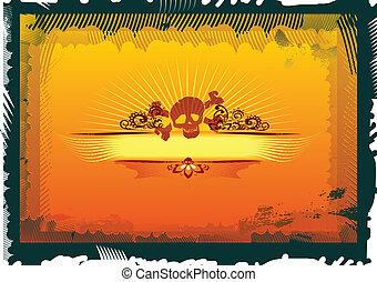 Retro Grunge Banner Label, grunge style vector