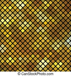 gold mosaic background - colorful illustration with gold...