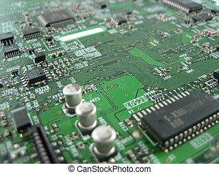 Electronics research and development - Close up pictures of...