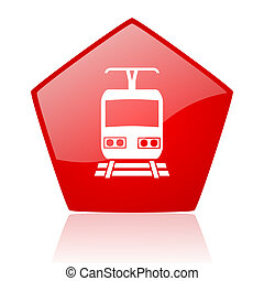 train red web glossy icon