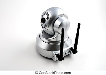 Security camera - stock picture of a wireless digital...