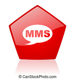 mms red web glossy icon