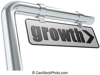 Growth street sign - Rendered artwork with white background