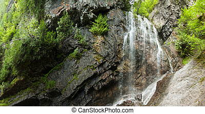 Waterfall in the forest - XXXL - View of the cliff