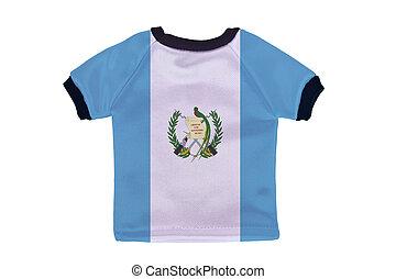 pequeño, camisa, guatemala, bandera, aislado, blanco,...