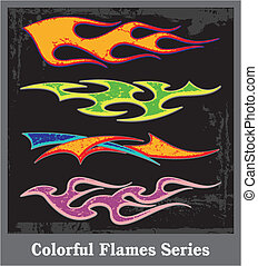 Flames - flames sticker